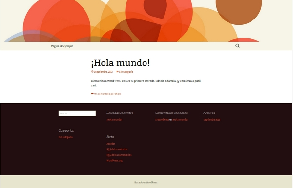 plantilla wordpress,Twenty Thirteen